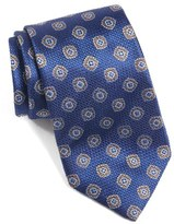 David Donahue Medallion Woven Silk Tie