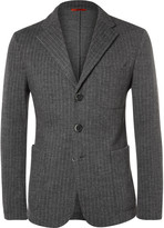 Barena - Chalk-stripe Wool And Cotton-blend Jacket