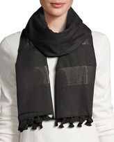 Eileen Fisher Hand-Loomed Lurex® Striped Scarf