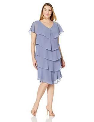 SL Fashions Women's Plus Size Pebble Tier Dress