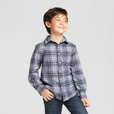 Cat & Jack Boys' Long Sleeve Button Down Flannel Shirt - Cat & Jack Gray