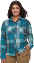 Columbia Plus Size Wildscape Flannel Plaid Roll-Tab Shirt