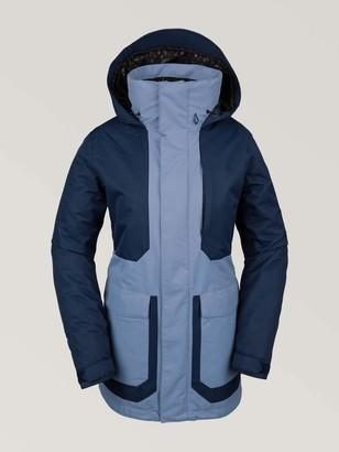 Volcom womensLeeland Micro Fleece Lined Snow Jacket Insulated Jacket - Blue - Large