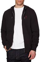 Original Penguin Raised Rib Pique Hooded Sweatshirt, True Black