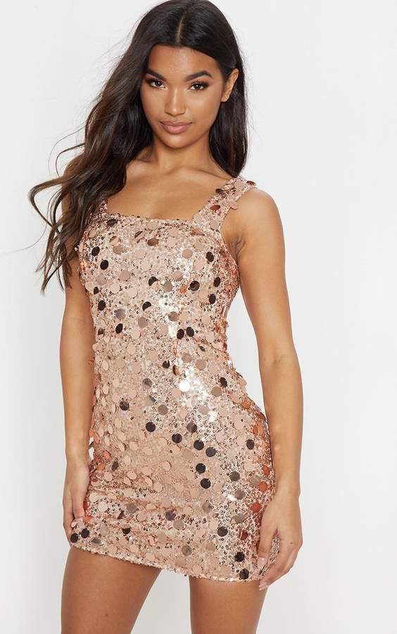 dcd1b0183b04 Rose Gold Sequin Detailed Dress - ShopStyle UK