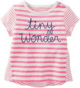 Osh Kosh Oshkosh Cap-Sleeve Striped Tee - Baby Girls newborn-24m