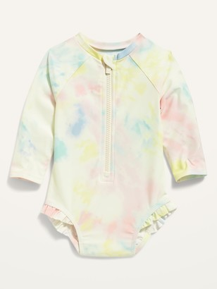 Old Navy Printed Zip-Front Rashguard One-Piece Swimsuit for Baby
