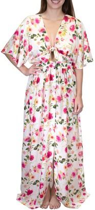 Nanette Lepore Lindsey Tie Front Maxi Dress