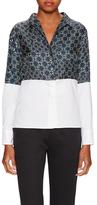 Paul Smith Contrast Printed V-Neck Shirt