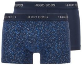 HUGO BOSS Two Pack Of Stretch Cotton Trunks With Logo Waistbands - Light Blue