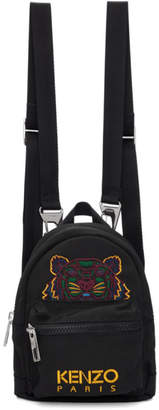 Kenzo Black Canvas Mini Tiger Backpack
