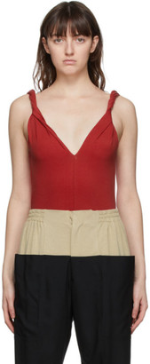 Vejas SSENSE Exclusive Red Twisting Tank Top