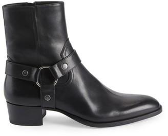Saint Laurent Wyatt Harness Leather Ankle Boots