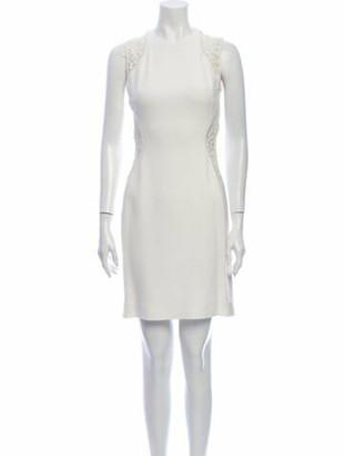 Stella McCartney Crew Neck Mini Dress White