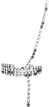 MM6 MAISON MARGIELA crystal choker stud necklace