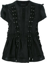 Diesel Black Gold Calpos lace-up blouse - women - Silk - 40