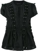 Diesel Black Gold Calpos lace-up blouse