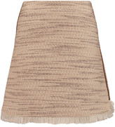 Raoul Ambra fringed tweed mini skirt