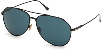 Tom Ford Cyrus 62mm Oversize Aviator Sunglasses
