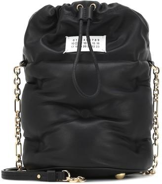 Maison Margiela Glam Slam Small leather bucket bag
