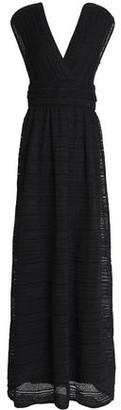 M Missoni Gathered Metallic Crochet-knit Maxi Dress