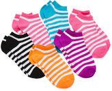 JCPenney Total Girl 6-pk. Chevron No-Show Socks - Girls