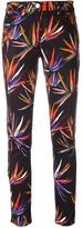 Emilio Pucci leaves print stretch jeans