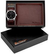 Ben Sherman Brown Watch And Wallet Gift Set Bs124g