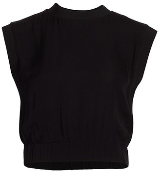 Alice + Olivia Treena Sleeveless Cropped Blouse