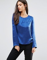 Sisley Long Sleeve Blouse with Pocket