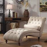 House of Hampton Yarmouth Chaise Tufted Lounge Chair