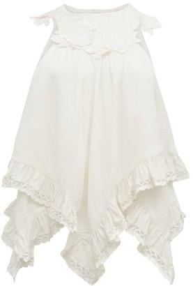 Isabel Marant Lupita Handkerchief-hem Cotton Top - Womens - White