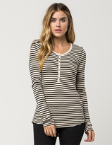 Others Follow Ribbed Womens Henley