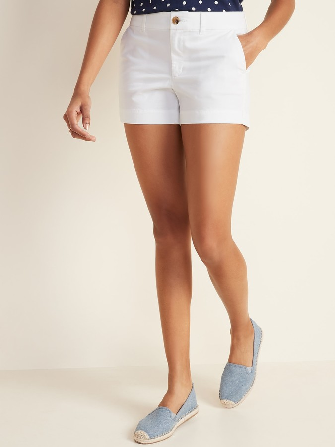 "NWT Womens OLD NAVY Classic Shorts 3.5/"" Inseam Khaki White Pink 8 10 14 16 $30"