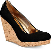 Thalia Sodi Miaa Almond-Toe Platform Wedge Pumps, Only at Macy's