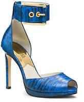 Michael Kors Calder Embossed-Leather Ankle-Strap Pump