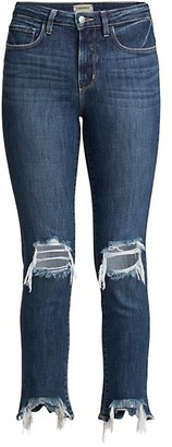 L'Agence High Line High-Rise Distressed Skinny Jeans