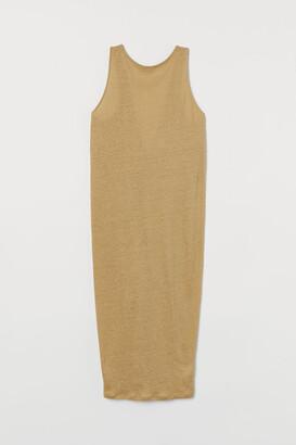H&M Linen Dress - Yellow