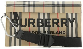 Burberry Vintage Check Embroidered Clutch