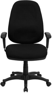 Wingler Executive Chair Symple Stuff Upholstery Color: Black, Arms: Height Adjustable Arms