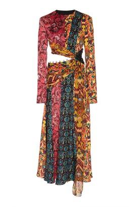 Prabal Gurung Taxila Long Sleeve Cutout Dress