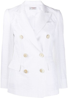 Alberto Biani Double-Breasted Embroidered Blazer Jacket