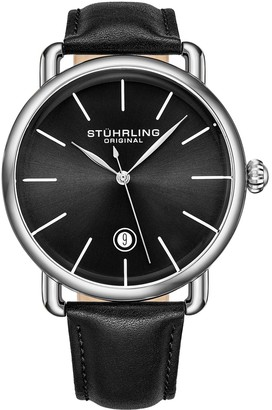 Stuhrling Original Men's Agent Black Dial Watch