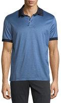 Salvatore Ferragamo Cotton Gancini-Jacquard Polo Shirt