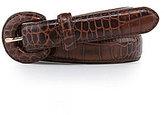 Lauren Ralph Lauren Croco-Embossed Leather Belt