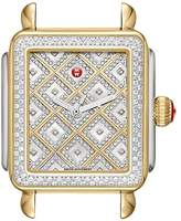 Michele Deco Diamond Square Watch Head, 35mm