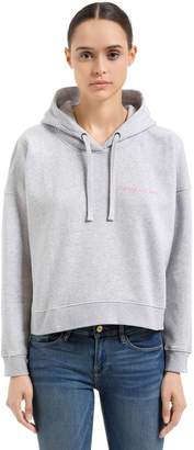Maison Labiche Crazy In Love Cotton Cropped Sweatshirt