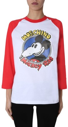 Moschino Mickey Rat Long Sleeve T-Shirt