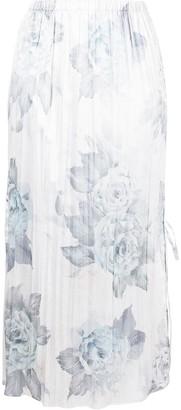 Acne Studios Floral Print Pleated Skirt