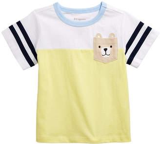 First Impressions Baby Boys Bear Pocket Cotton T-Shirt